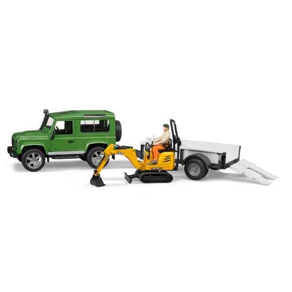 Todoterreno Land Rover con remolque