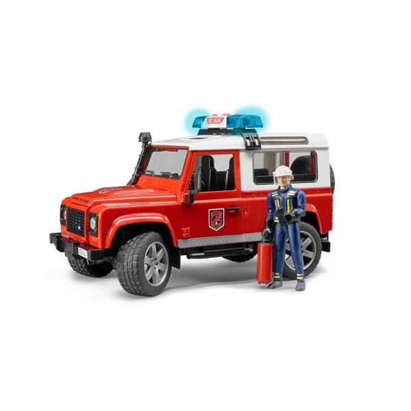 Todoterreno Land Rover Defender de Bomberos con Figura – Ref. Bruder 2596 - 1