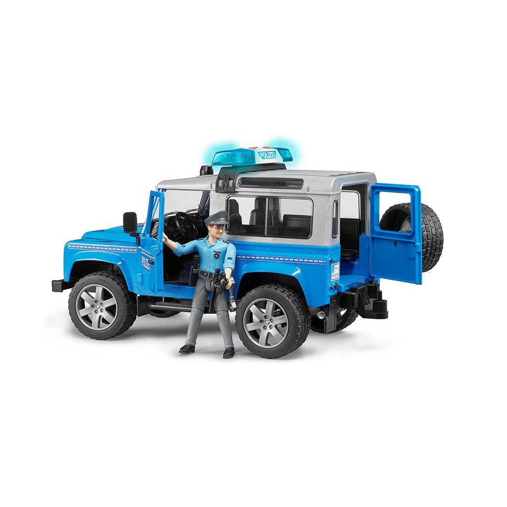 Todoterreno Land Rover Defender de Policía con Figura – Ref. Bruder 2597 - 1