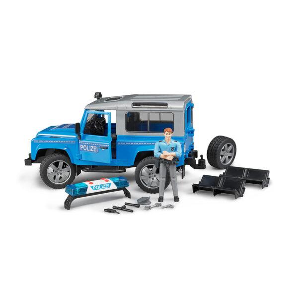 Todoterreno Land Rover Defender de Policía con Figura – Ref. Bruder 2597