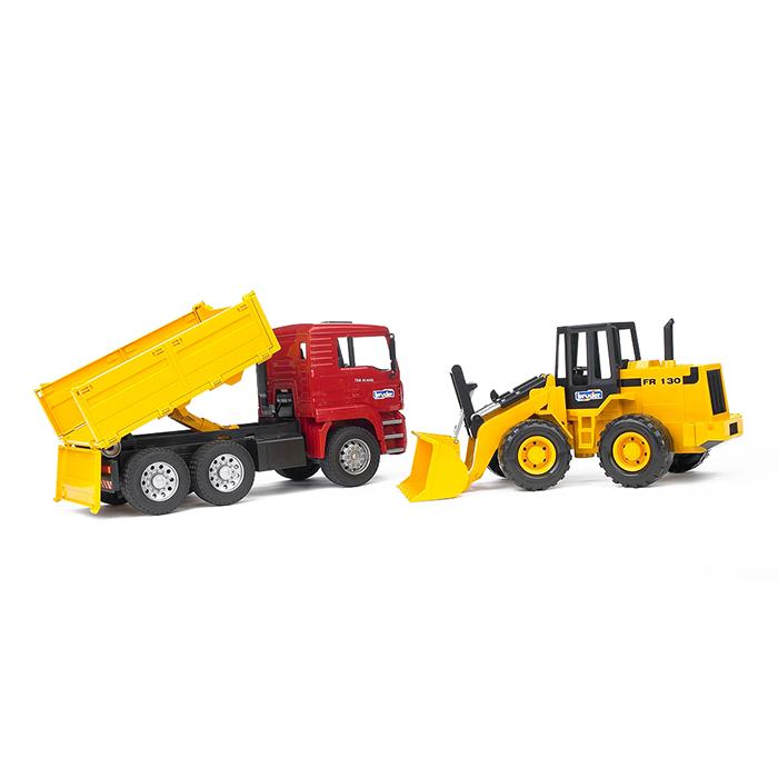 Camión de obra MAN con excavadora FR 130 – Ref. Bruder 2752 - 1
