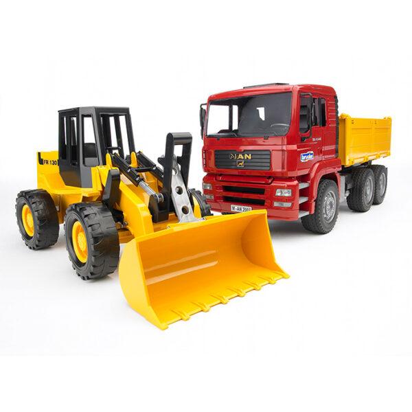 Camión de obra MAN con excavadora FR 130 – Ref. Bruder 2752
