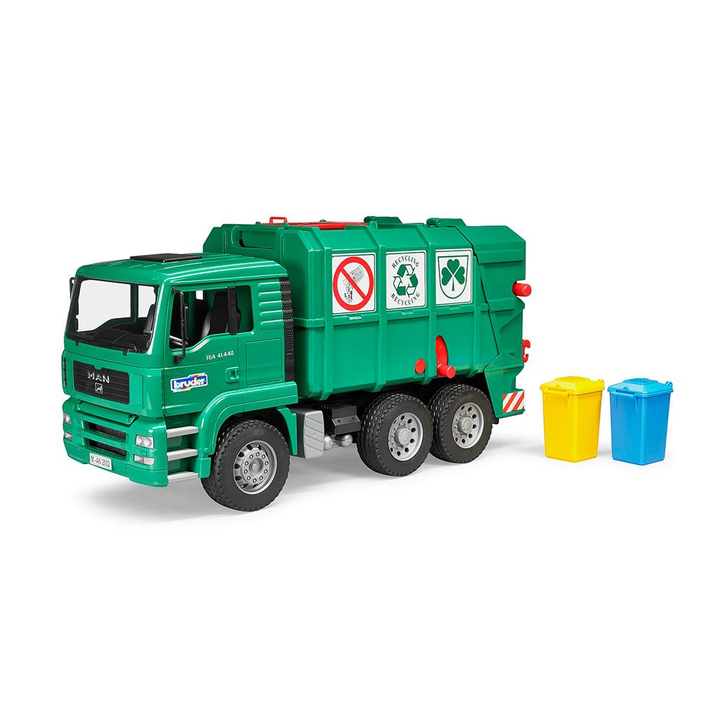 Camión de Basura MAN TGA Verde – Ref. Bruder 2753 - 1