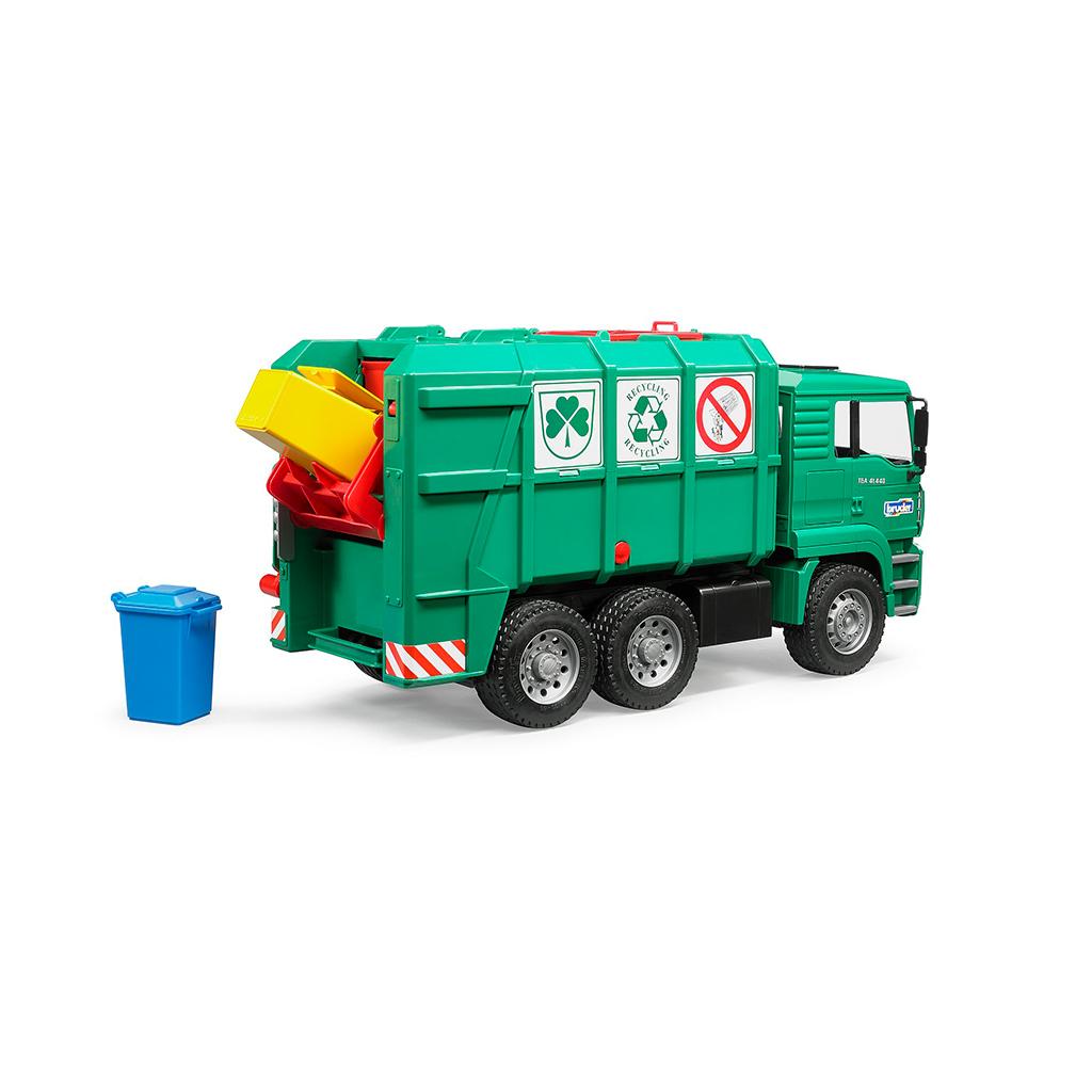 Camión de Basura MAN TGA Verde – Ref. Bruder 2753