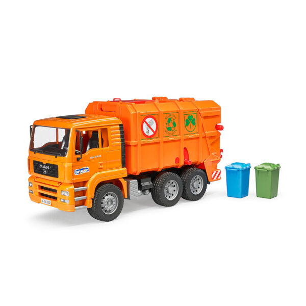 Camión de Basura MAN TGA Naranja – Ref. Bruder 2760 - 1