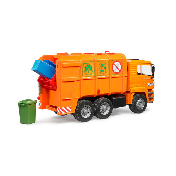 Camión de Basura MAN TGA Naranja – Ref. Bruder 2760