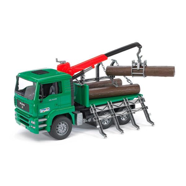 Camión-Grúa Forestal MAN con Troncos – Ref. Bruder 2769