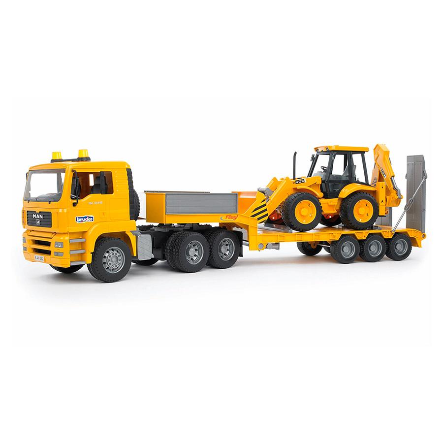 Camión góndola MAN con excavadora JCB 4CX – Ref. Bruder 2776 - 2