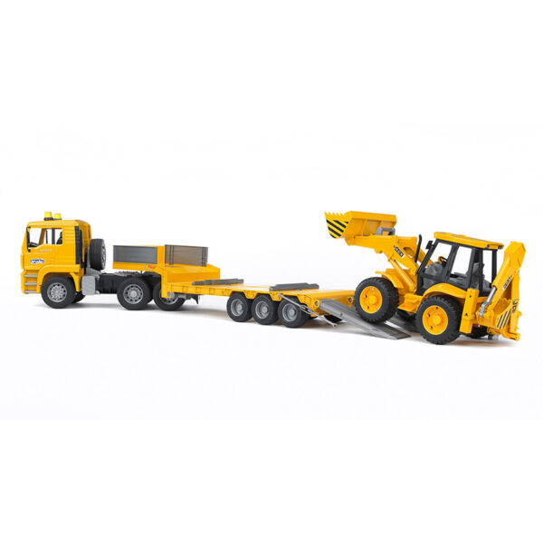 Camión góndola MAN con excavadora JCB 4CX – Ref. Bruder 2776
