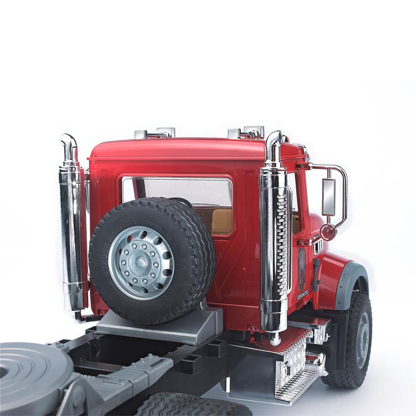 Camión Góndola Mack Granite con excavadora JCB 4CX – Ref. Bruder 2813