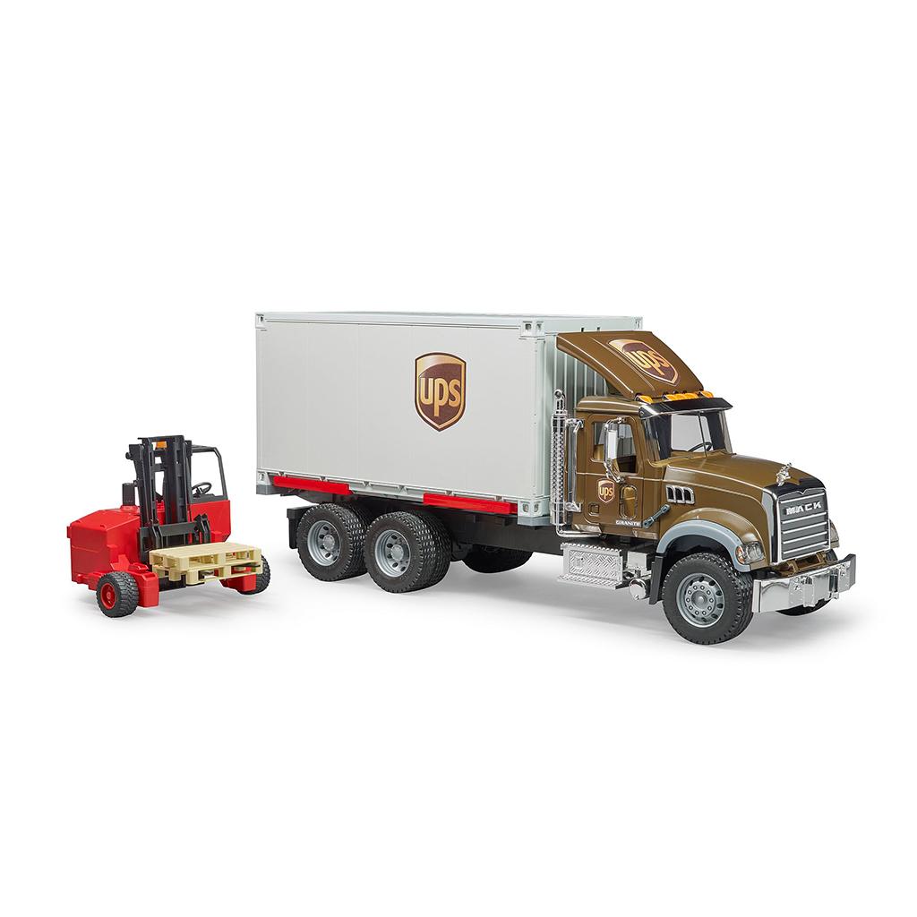 Camión de Reparto UPS Mack con Carretilla Elevadora – Ref. Bruder 2828