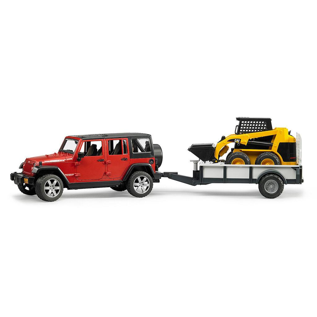 Jeep Wrangler Unlimited Rubicon con Miniexcavadora CAT – Ref. Bruder 2925