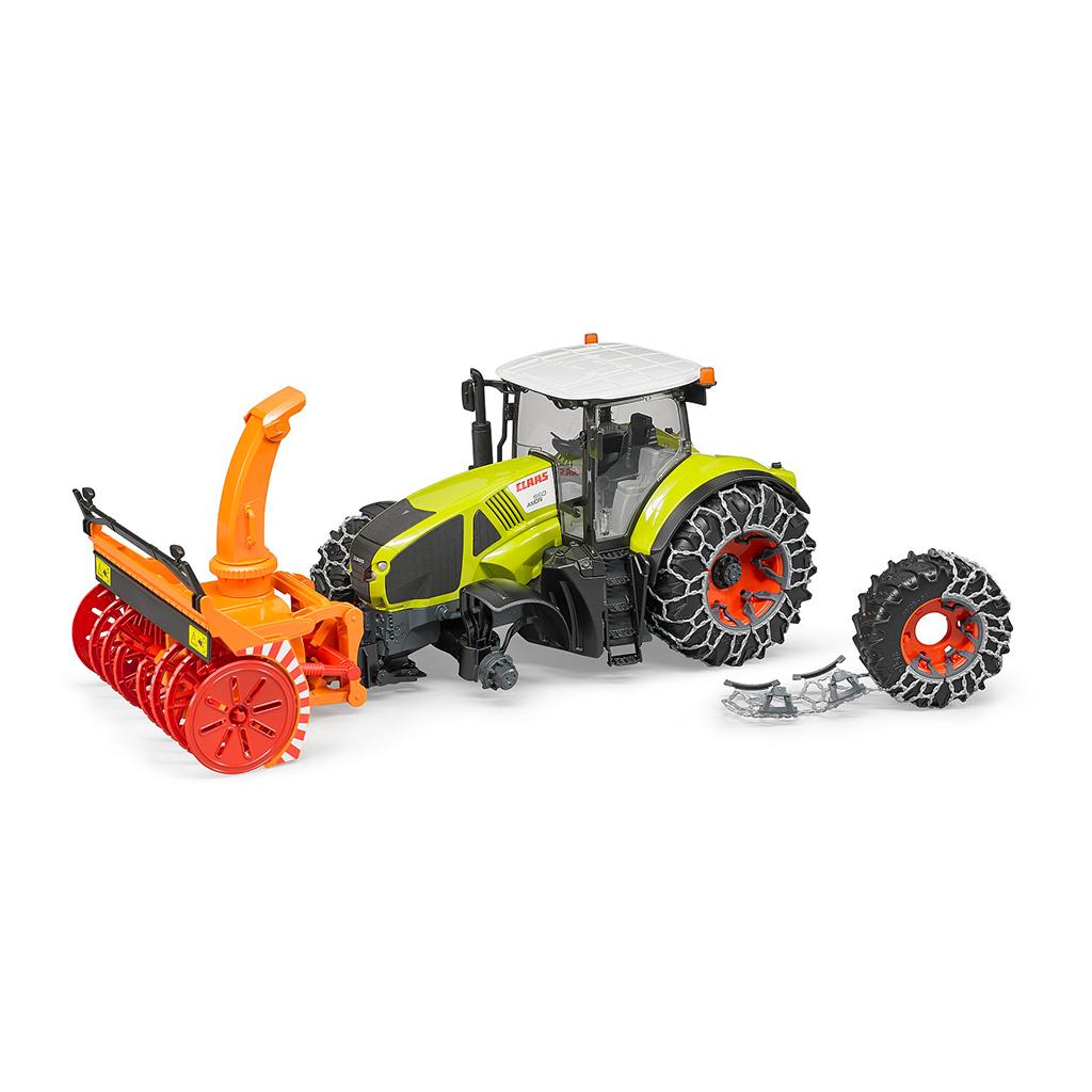 Tractor Claas Axion 950 con cadenas y quitanieves – Ref. Bruder 3017 - 1