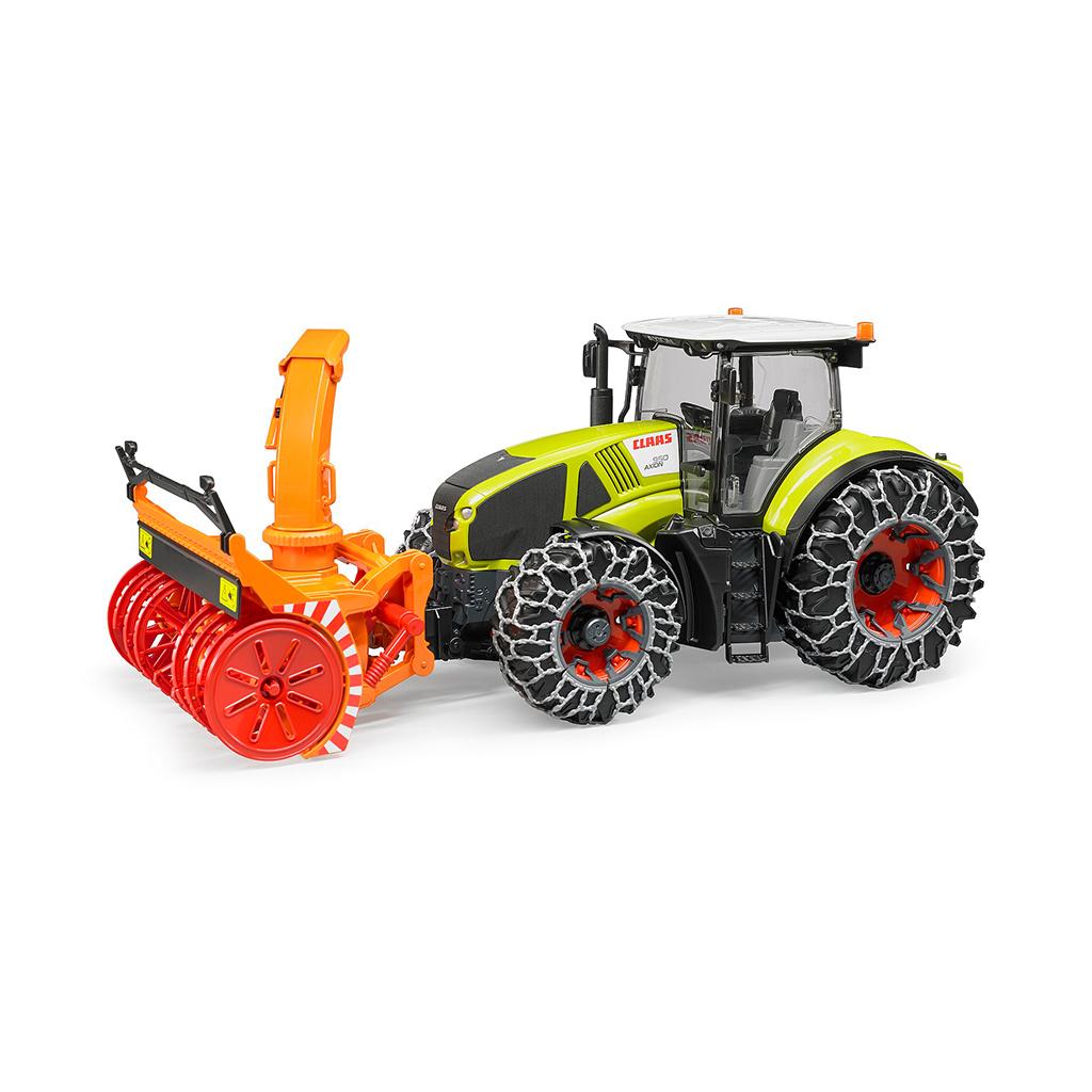 Tractor Claas Axion 950 con cadenas y quitanieves – Ref. Bruder 3017