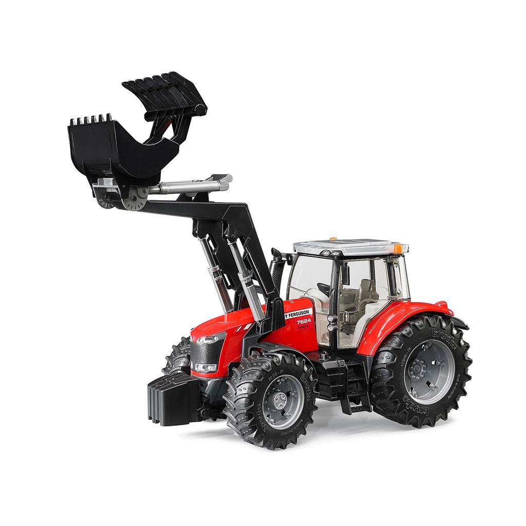 Tractor Massey Ferguson 7624 con pala frontal – Ref. Bruder 3047