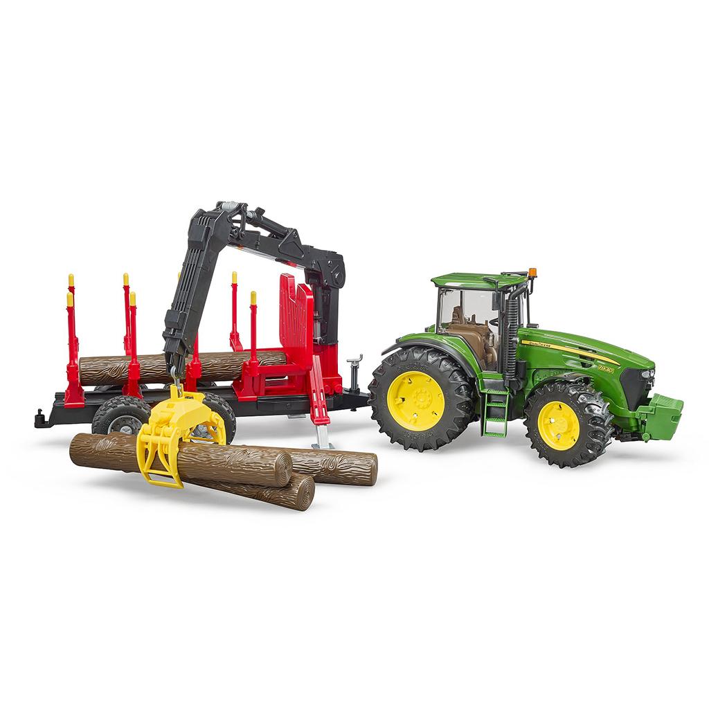 Tractor John Deere 7930 con remolque forestal – Ref. Bruder 3054