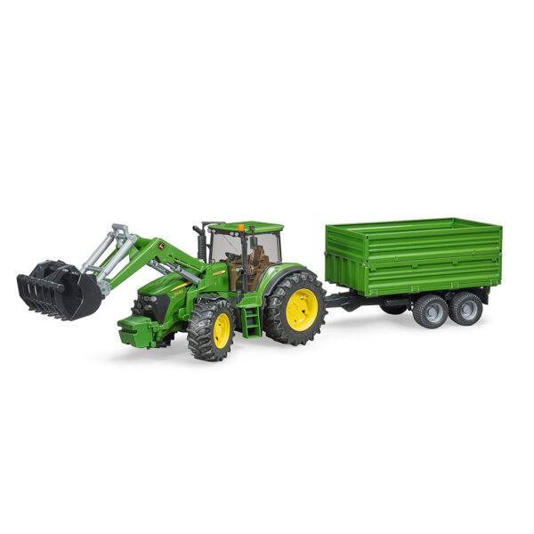 Tractor John Deere 7930 con pala frontal y remolque – Ref. Bruder 3055