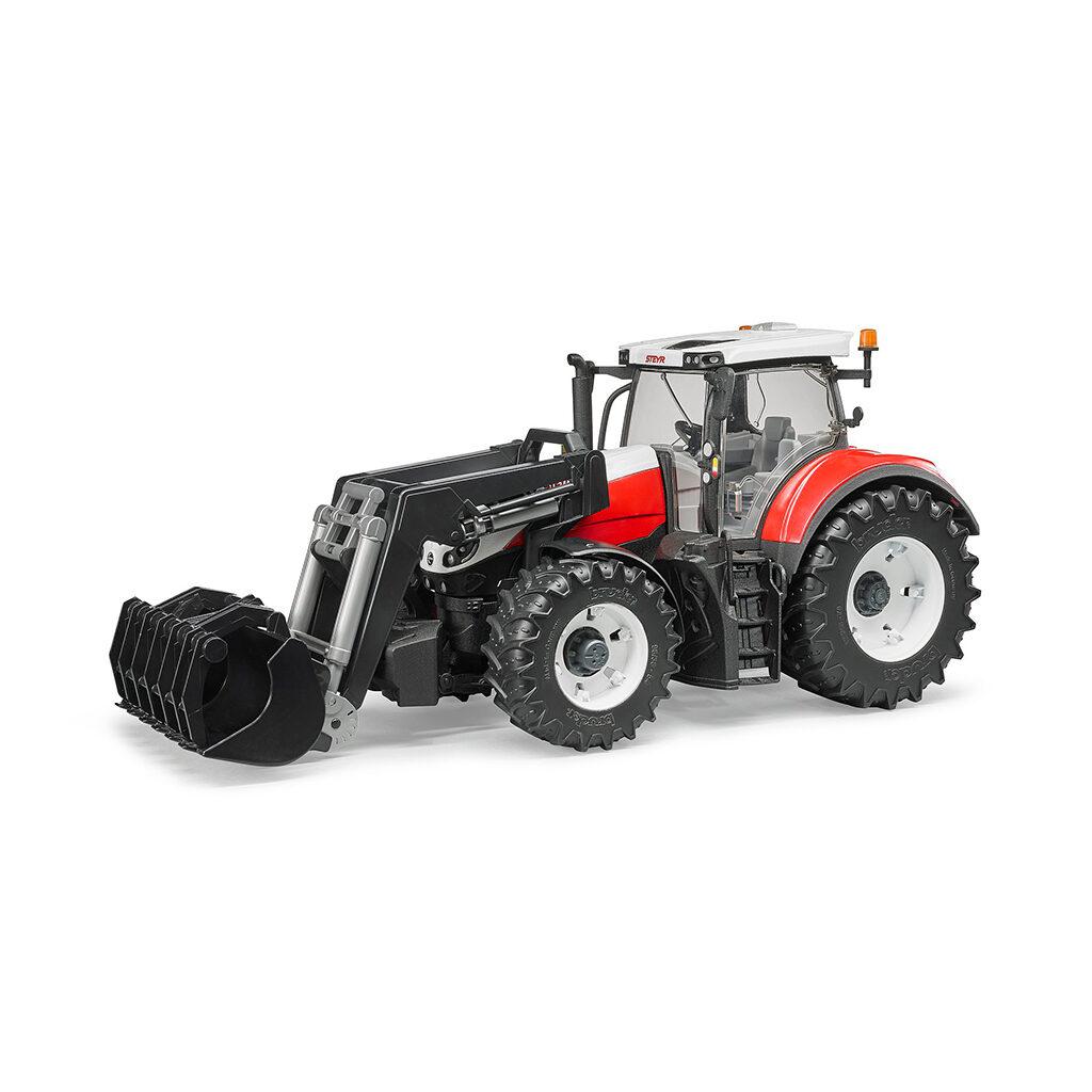 Tractor Steyr 6300 Terrus CVT con pala frontal – Ref. Bruder 3181