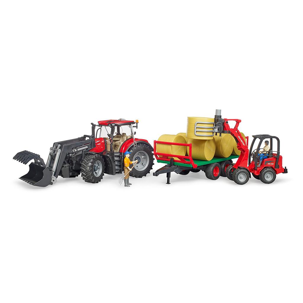 Tractor Case IH Optum 300 CVX con remolque balas – Ref. Bruder 3198 - 1