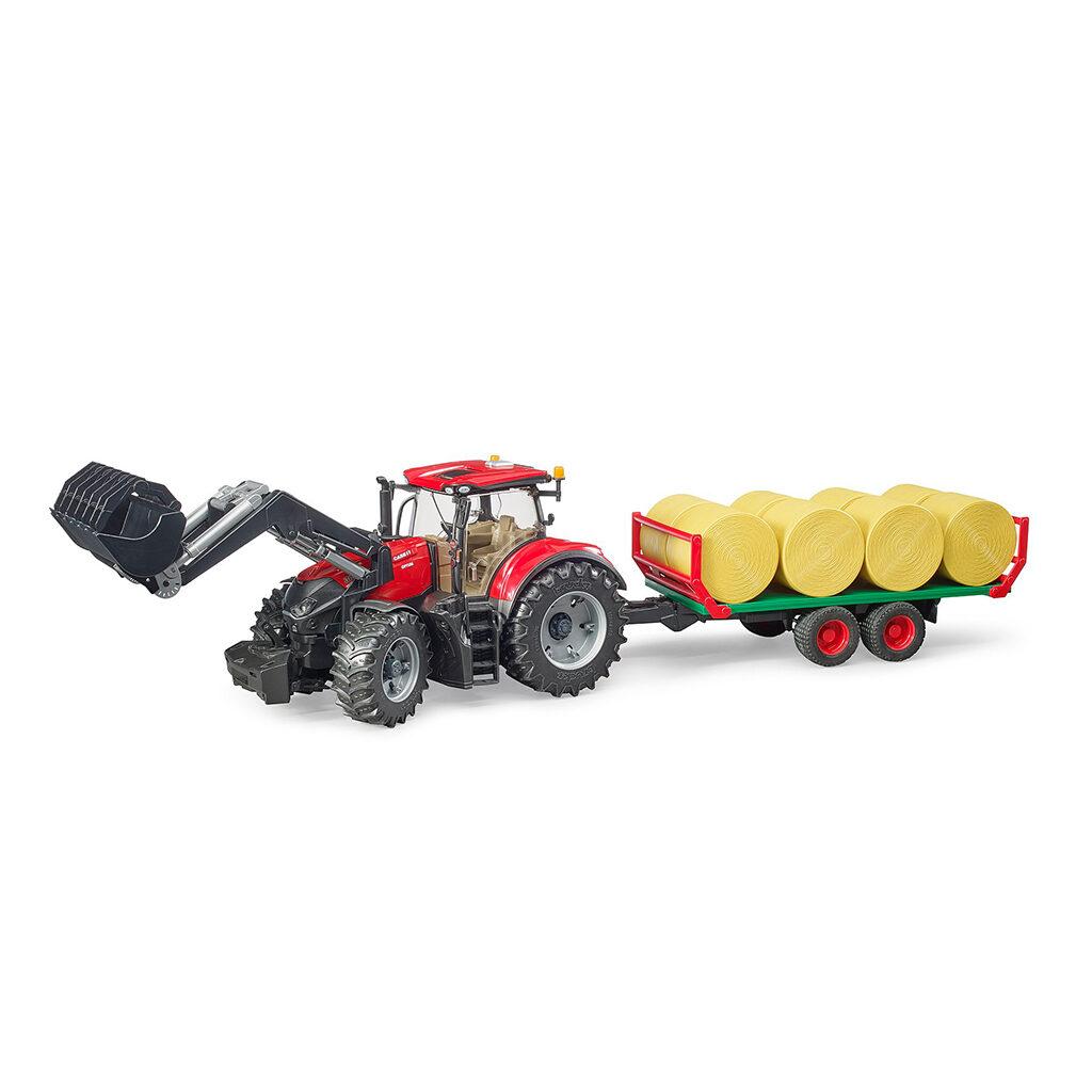 Tractor Case IH Optum 300 CVX con remolque balas – Ref. Bruder 3198