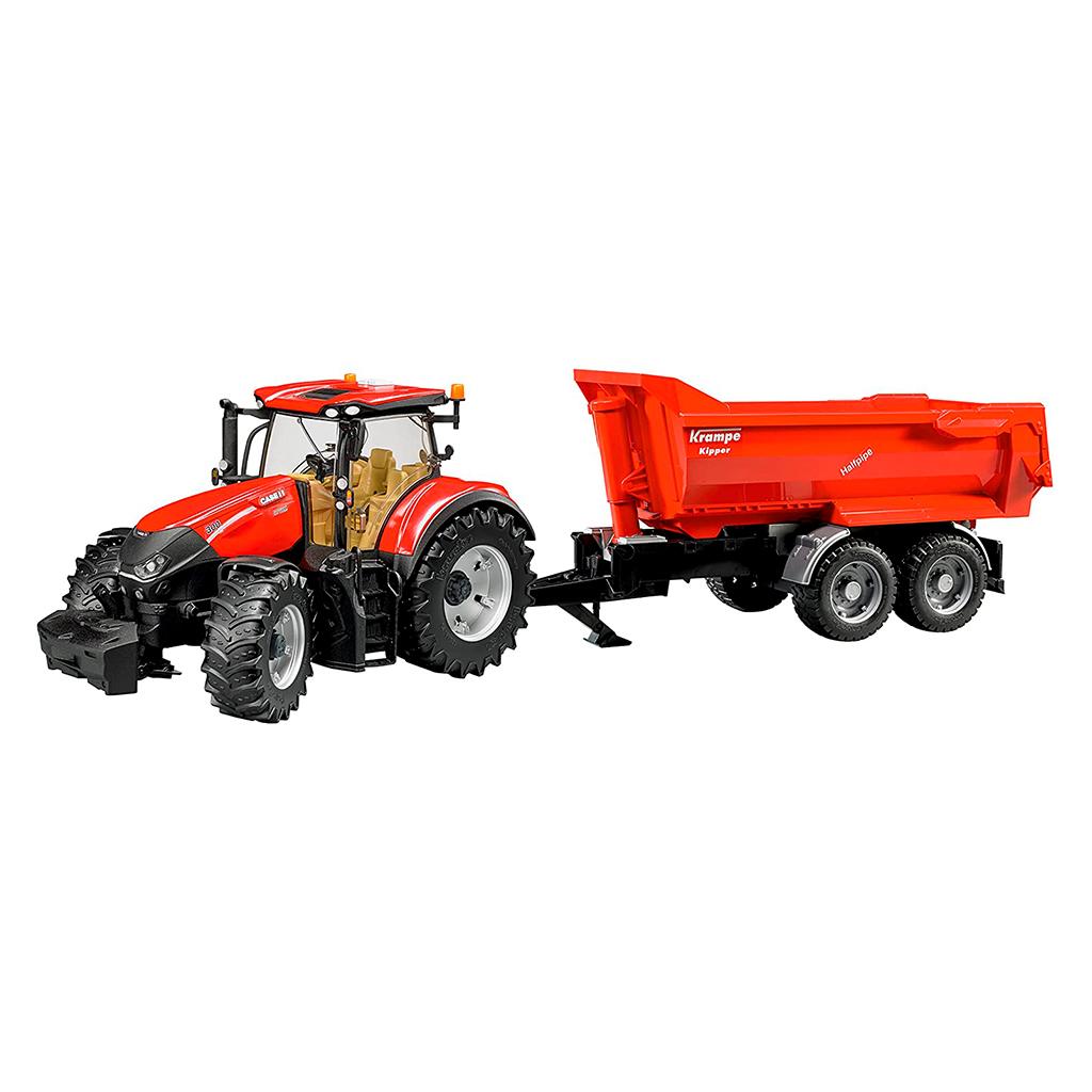 Tractor Case IH Optum 300 CVX con remolque Krampe – Ref. Bruder 3199