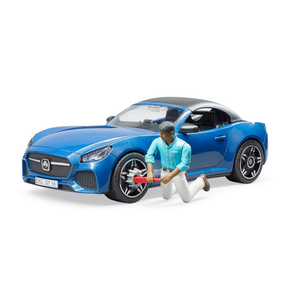 Coche Descapotable Roadster Biplaza con Conductor – Ref. Bruder 3481