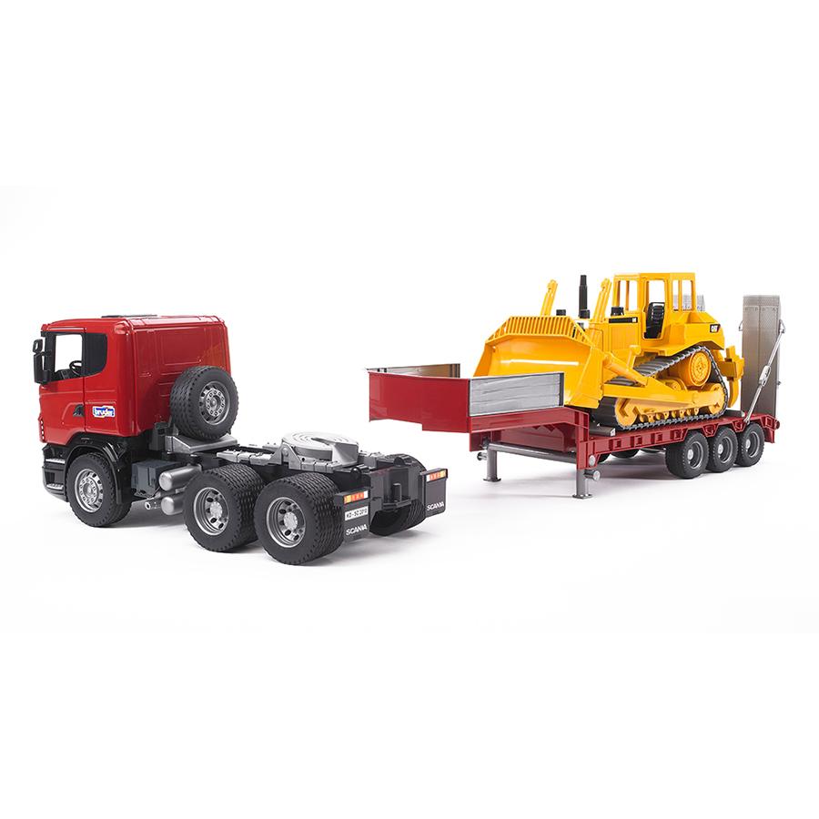 Camión Góndola Scania con Bulldozer Caterpillar – Ref. Bruder 3555 - 1