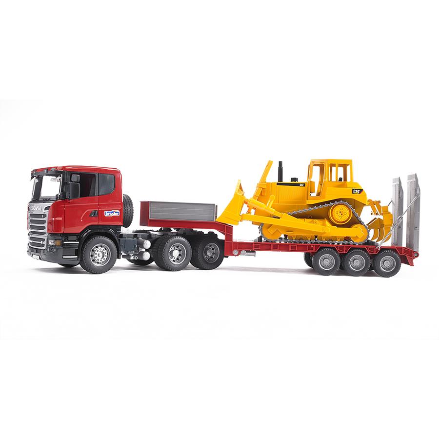 Camión Góndola Scania con Bulldozer Caterpillar – Ref. Bruder 3555 - 2