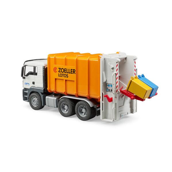 Camión de Basura MAN TGS Naranja Carga Trasera – Ref. Bruder 3762