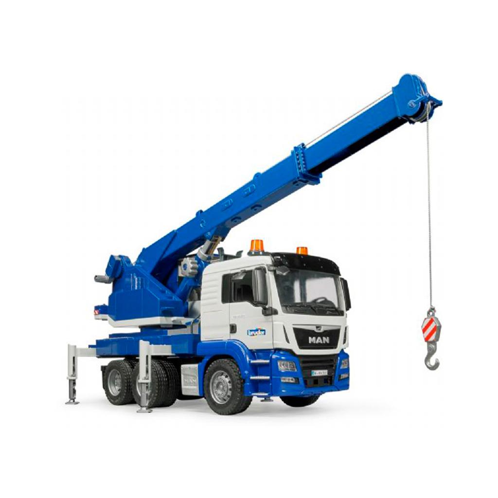 Camión Grúa MAN TGS con Luz y Sonido – Ref. Bruder 3770