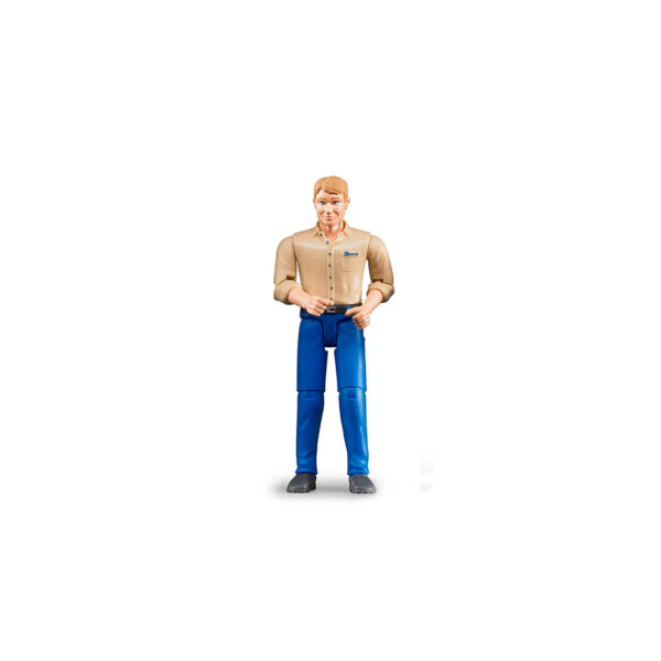 Figura de Granjero con Jeans – Ref. Bruder 60006