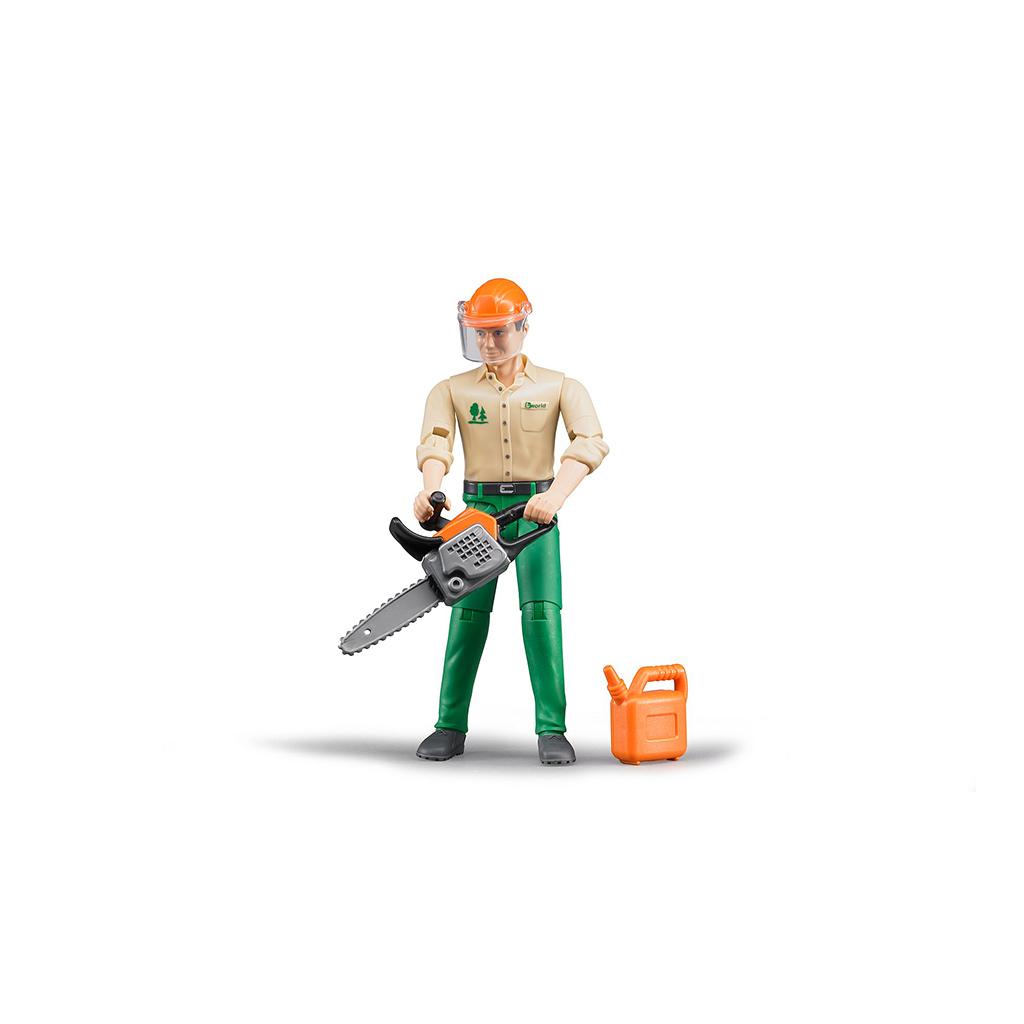 Trabajador Forestal con accesorios – Ref. Bruder 60030