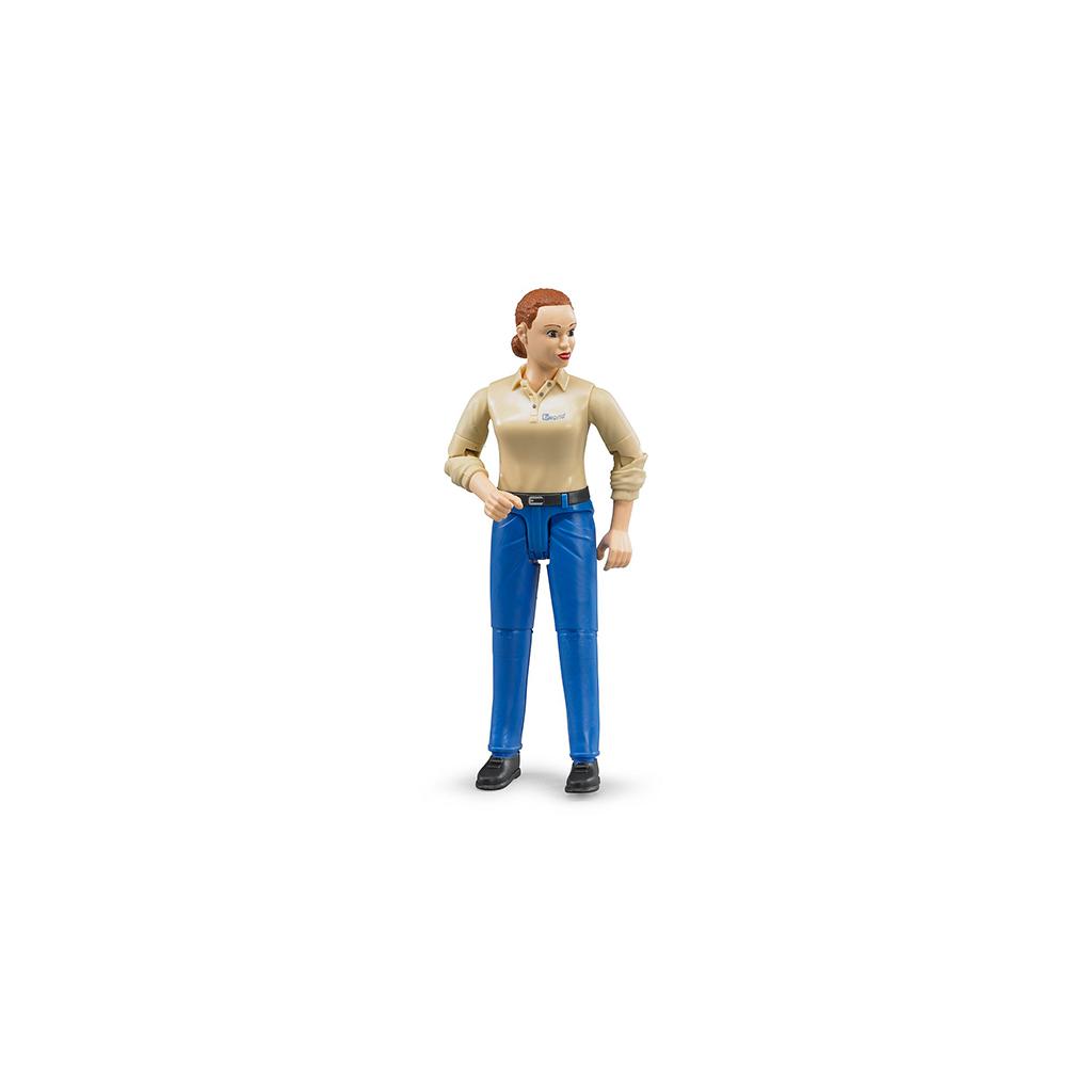 Figura de Granjera con Jeans – Ref. Bruder 60408