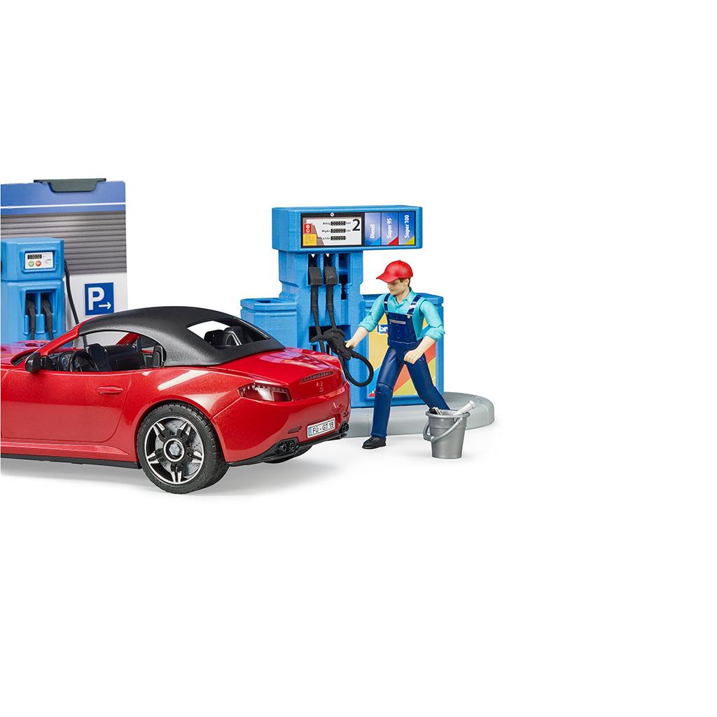 Estación de Servicio   Gasolinera y Lavadero de Coches Bruder Bworld – Ref. 62111 - 1