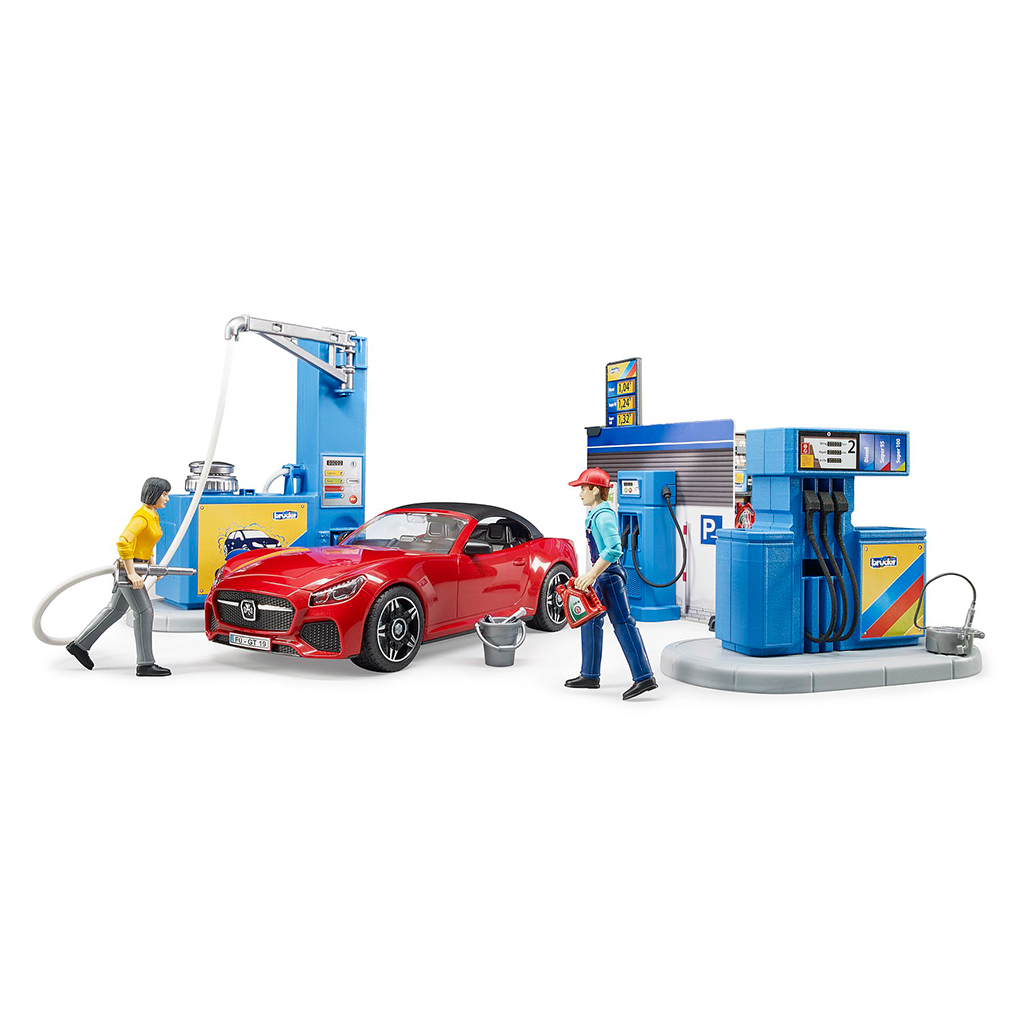 Estación de Servicio   Gasolinera y Lavadero de Coches Bruder Bworld – Ref. 62111