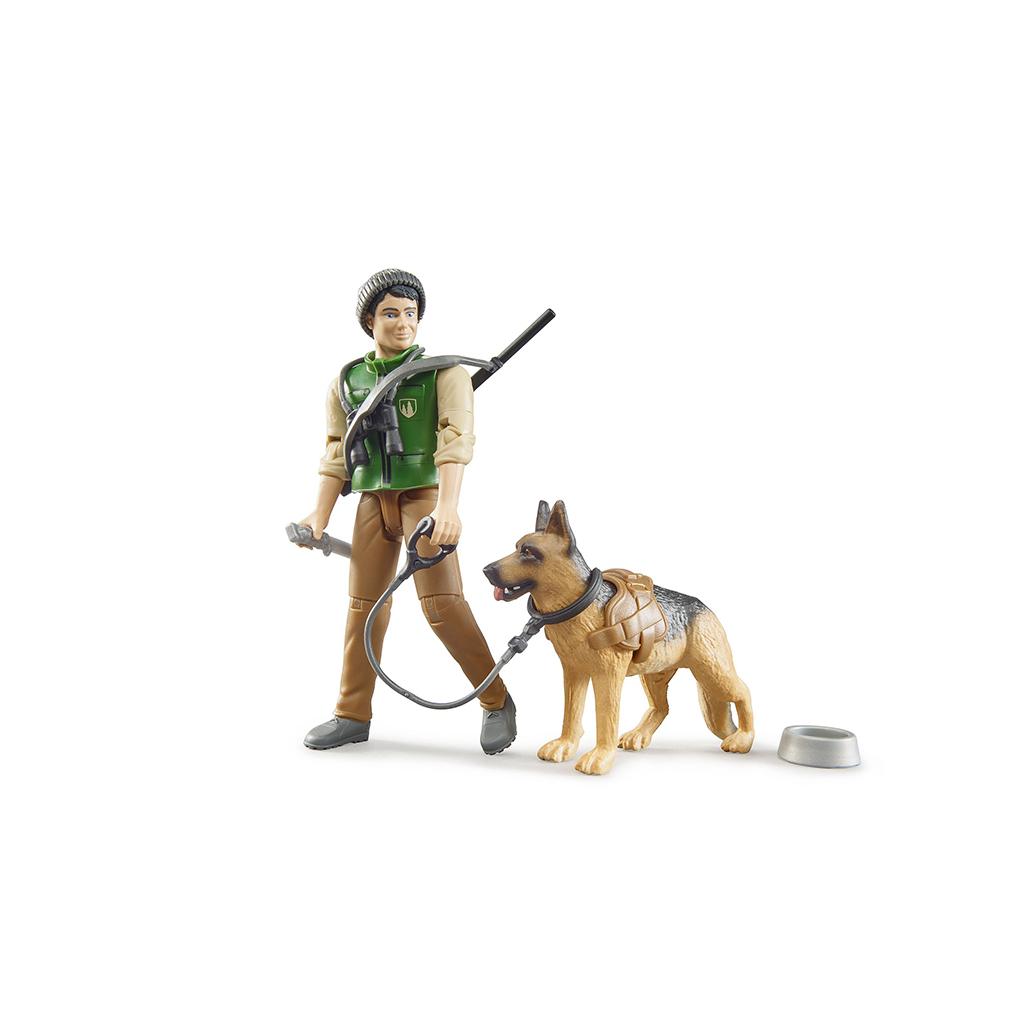 Trabajador Forestal con Perro – Ref. Bruder 62660