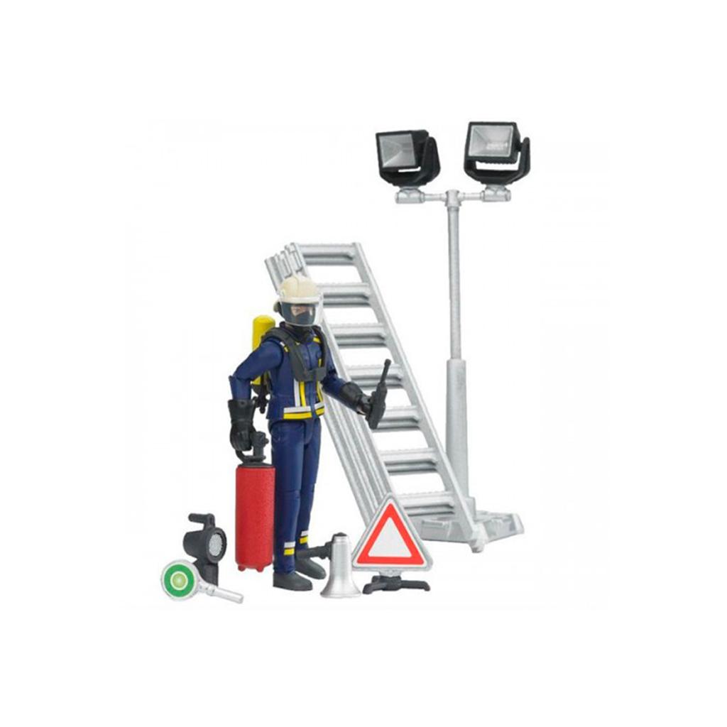 Bombero con Accesorios y Escalera – Ref. Bruder 62700