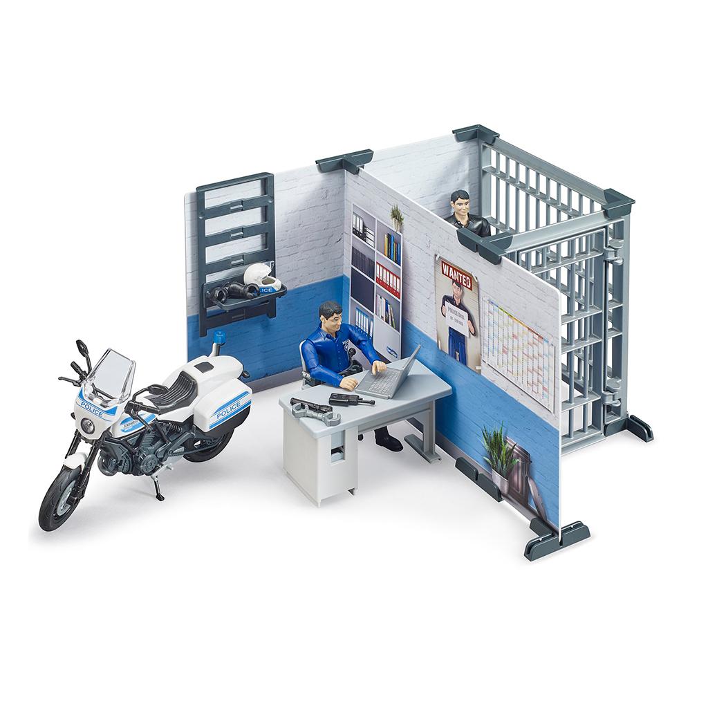 Comisaría De Policía Con Moto Bruder Bworld – Ref. 62732 - 1