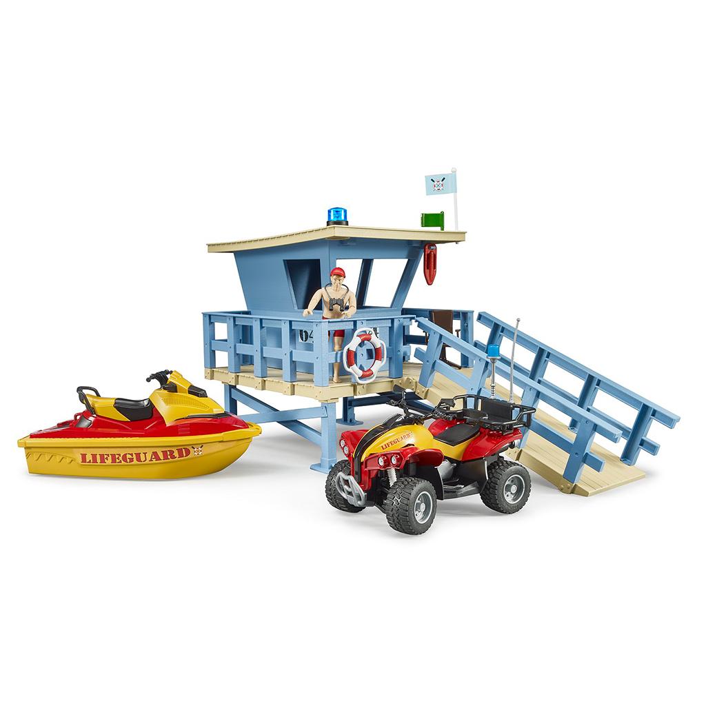 Puesto de Salvamento Marítimo con Quad y Moto Acuática Bruder Bworld – Ref. 62780 - 2