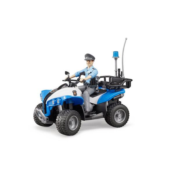 Quad Policía con Agente – Ref. Bruder 63010