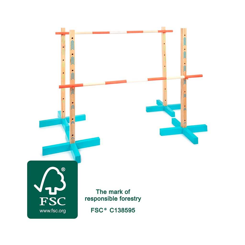Salto de obstáculos infantil - Juegos de Madera para niños