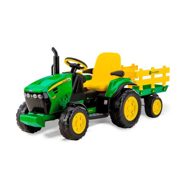 Tractor Eléctrico con Remolque John Deere Ground Force 12V