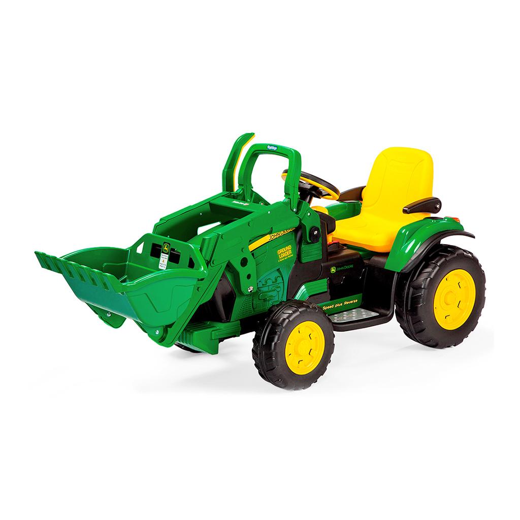 Tractor Eléctrico con Pala John Deere Ground Loader 12V · Peg Perego