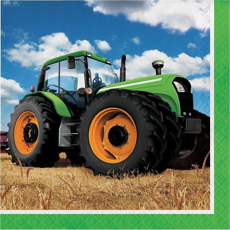 Pack de 16 Servilletas 33 cm Tractor Time