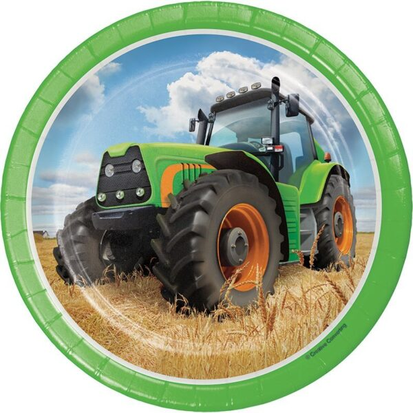 Pack 8 Platos 18 cm Tractor Time