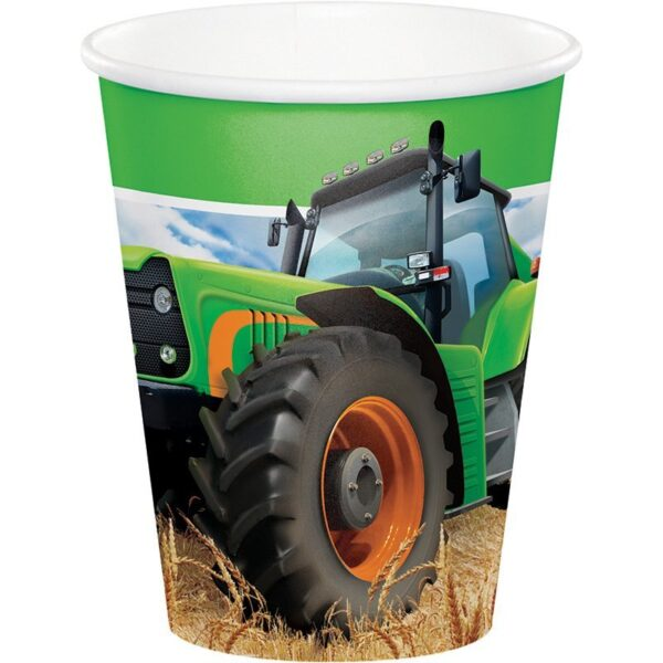 Pack 8 Vasos Tractor Time