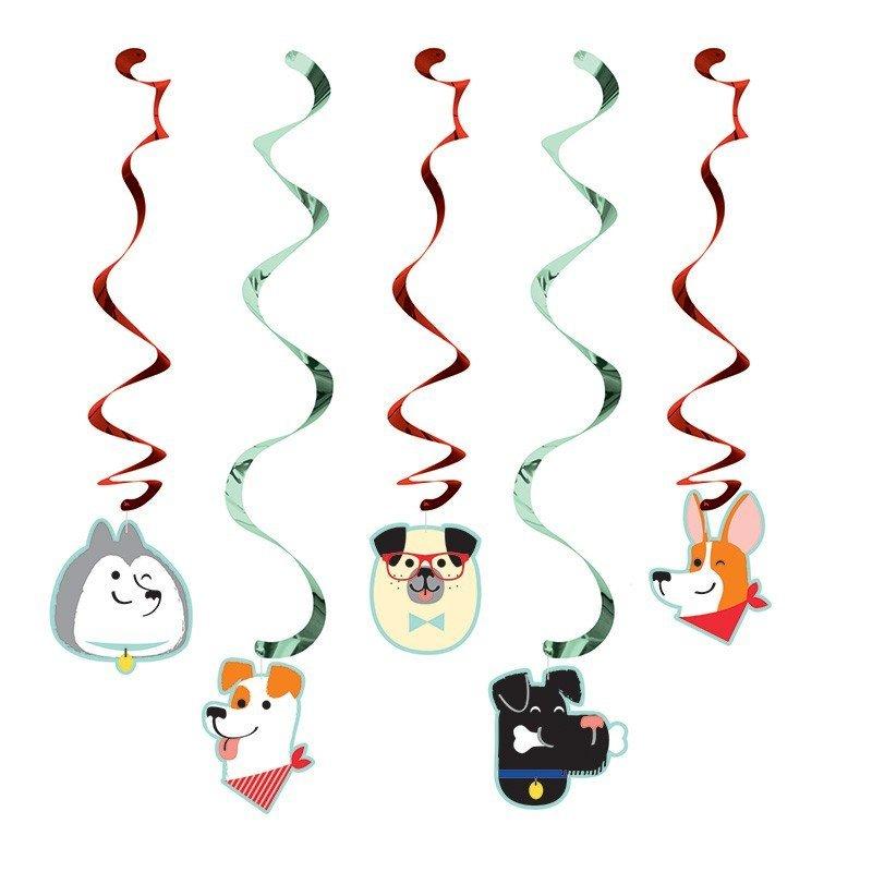 Pack de 5 Elementos Decorativos Colgantes Perros