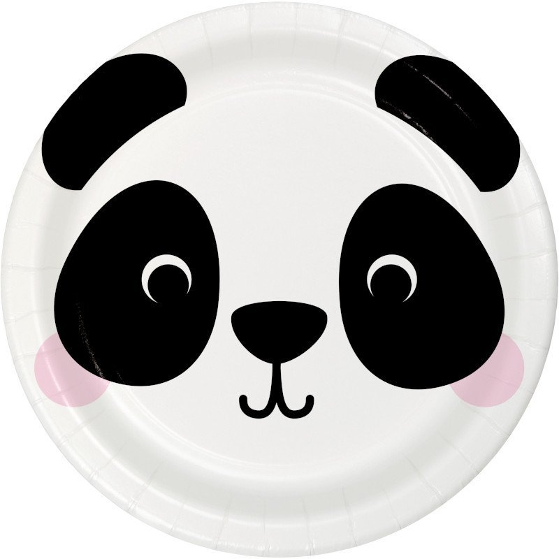 Pack de 8 Platos 23 cm Panda