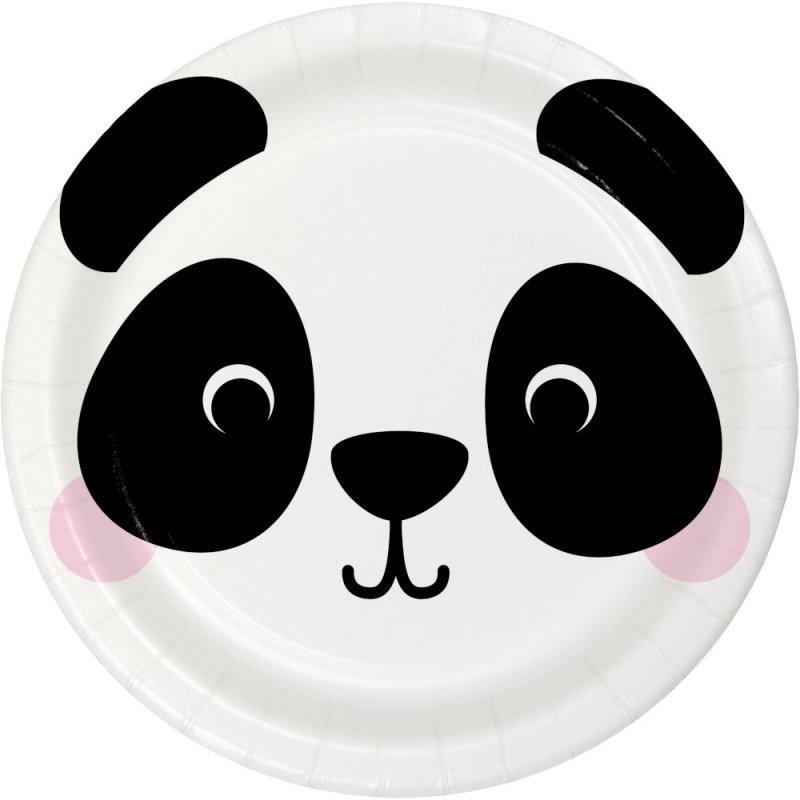 Pack de 8 Platos 18 cm Panda