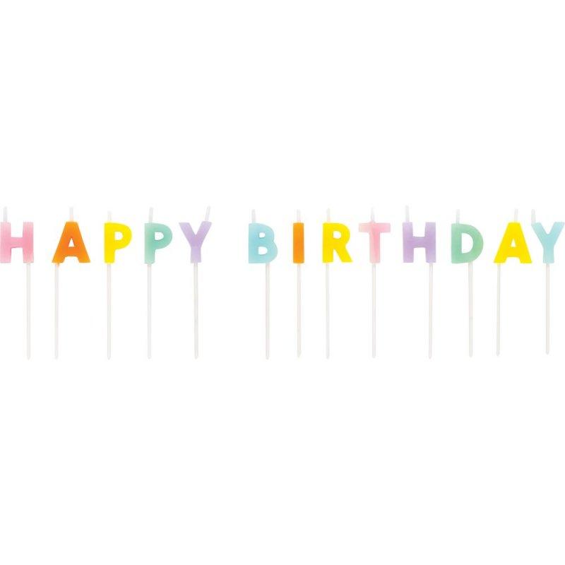 Velas Letras Happy Birthday
